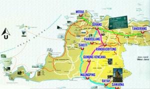 Peta menuju Sawarna